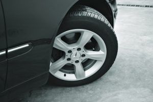 image of a wheel attached to the car